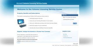 Volume Licensing Service Center - Microsoft