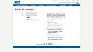 LOMA Account Login