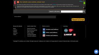 Licklibrary | Forgotten password - LickLibrary.com