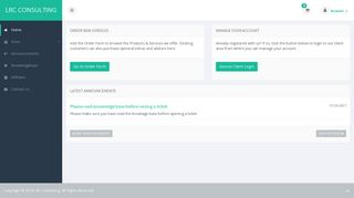 Portal Home - Lie Low VPN - Mint Panel