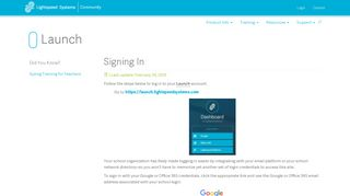 Signing In - Lightspeed Systems Community Site
