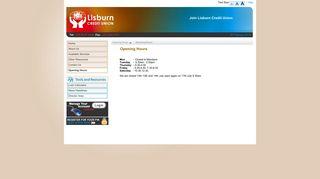 Opening Hours - Lisburn Credit Union