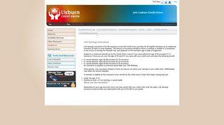 Life Savings Insurance - Lisburn Credit Union