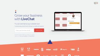 Get your own LiveChat now! Sign up for 30-day, free live chat trial.