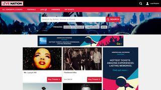 Live Nation Australia: Concert Tickets and Tour Dates