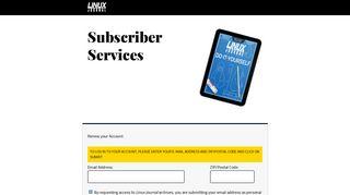 LJ Subscriber Login - Linux Journal