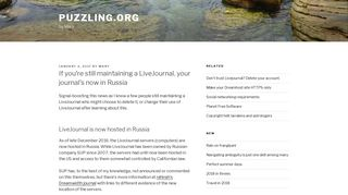 If you're still maintaining a LiveJournal, your journal's now in Russia ...