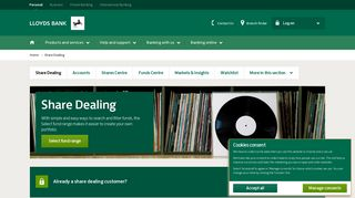 Lloyds Bank - Share Dealing - Shares, Funds and Stockbrokers