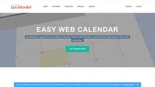 localendar: Free Online Calendar for Webmaster, School, Family ...