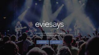 eviesays | events calendar platform for media companies