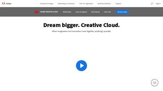 Adobe Creative Cloud | Software and services for creative professionals
