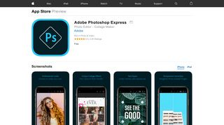 Adobe Photoshop Express on the App Store - iTunes - Apple