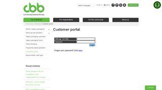 Customer portal - Community Business Bureau
