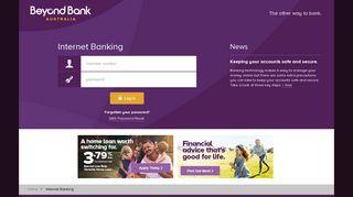 Beyond Bank | Internet Banking Log In