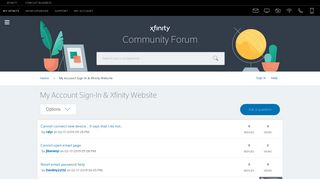 My Account Sign-In & Xfinity Website - Xfinity Help and Support Forums