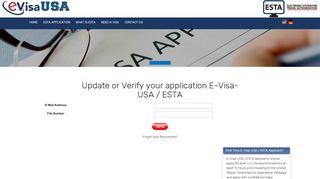 Recover Esta online login - E-Visa-USA