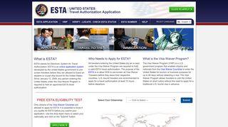 ESTA: Apply for U.S. Travel Authorizations
