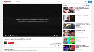 How can you check if your ESTA is still valid? - YouTube