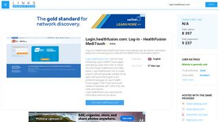 Visit Login.healthfusion.com - Log-in - HealthFusion MediTouch.