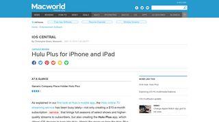 Hulu Plus for iPhone and iPad | Macworld