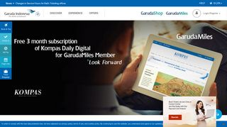 Free 3 month subscription of Kompas Daily Digital for GarudaMiles ...
