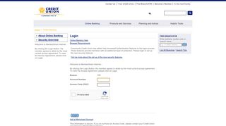 Community Credit Union - Online Banking