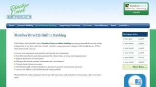 MemberDirect® Online Banking – Pincher Creek Credit Union