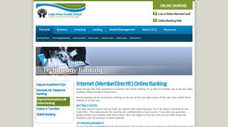 Internet MemberDirect® Online Banking - Lake View Credit Union