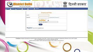 Login - Home | e-District Delhi | Department of Revenue, Govt. of ...
