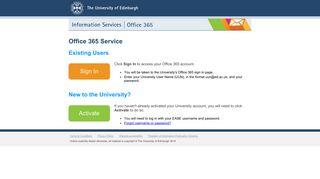 Office 365 Email | The University of Edinburgh