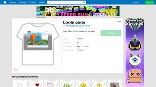 Login page - Roblox