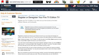 Amazon.com Help: Register or Deregister Your Fire TV Edition TV