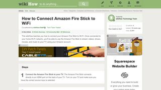 How to Connect Amazon Fire Stick to WiFi: 7 Steps - wikiHow