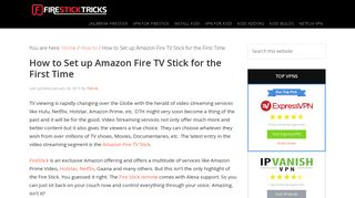 How to Set Up Amazon FireStick for the First Time Under 5 Minutes