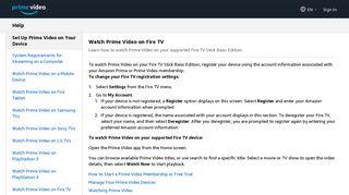 Prime Video: Help