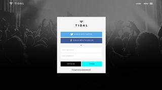 TIDAL · Sign in