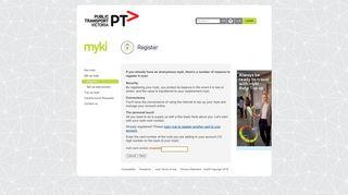 Register myki - Get myki