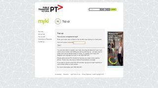 Top up myki - Get myki