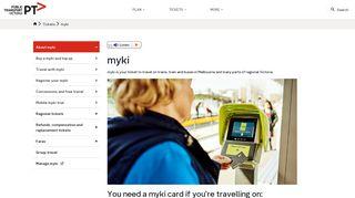 myki - Public Transport Victoria - PTV