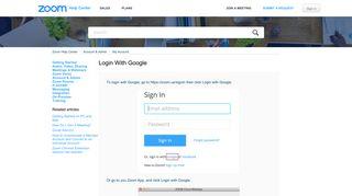 Login with Google – Zoom Help Center