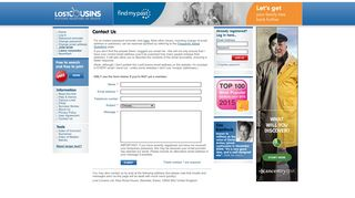 Contact Us - Lost Cousins - Putting Relatives In Touch