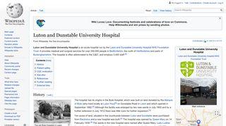 Luton and Dunstable University Hospital - Wikipedia