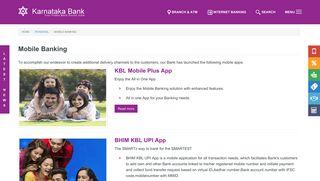 Mobile Banking   Karnataka Bank