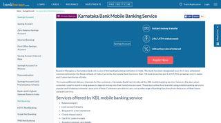 Karnataka Bank Mobile Banking Service - BankBazaar