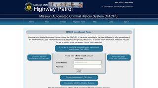 MACHS: Missouri Automated Criminal History Site - MACHS.mo.gov
