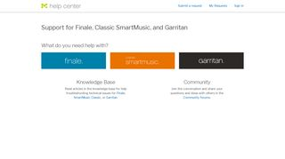 Support for Finale, Classic SmartMusic, and Garritan