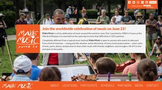 Make Music - June 21 - The Worldwide Celebration of Music