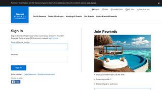 Sign In - Marriott Rewards