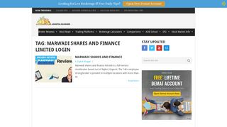 marwadi shares and Finance Limited login Archives | A Digital Blogger