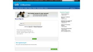 Citibank Business Login - Credit Cards